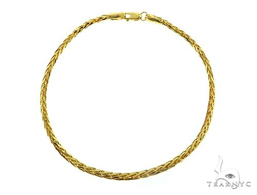 Solid 14K Yellow Gold Bracelet Wheat Link 8 Inches 2mm 5.2 Grams 66317 Gold
