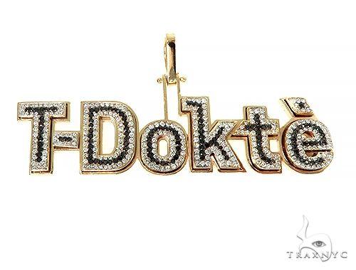 Custom Made T-Dokt'e Name Pendant 66319 Metal
