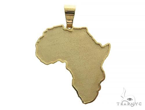 14K Gold African Pendant 66321 Metal