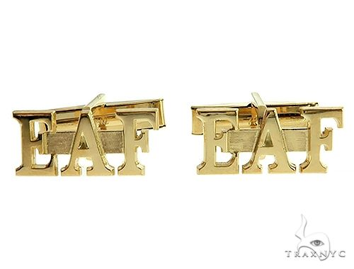 18K Custom Made Cufflinks 66322 Metal