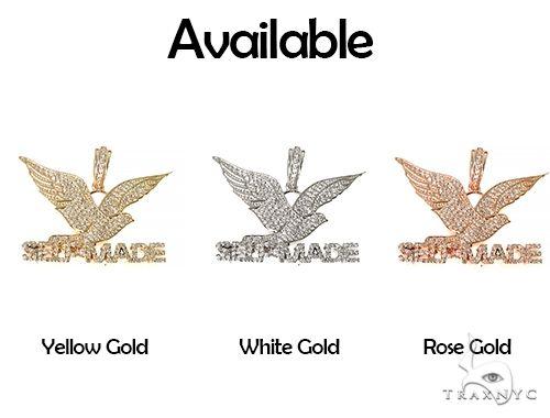 14K Yellow Gold Prong Diamond FreeBird Self Made Charm Pendant 63091 Metal