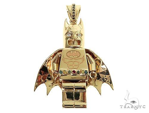 14K Gold Custom Made Batman Pendant 66344 Metal