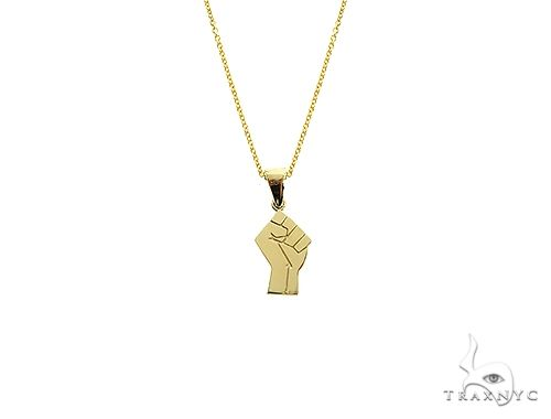 10K Gold Power Fist, BLM, Small Pendant Set 66335 Metal