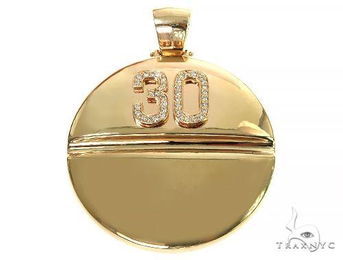 14K Gold Percocet Perc 30 Pendant Metal
