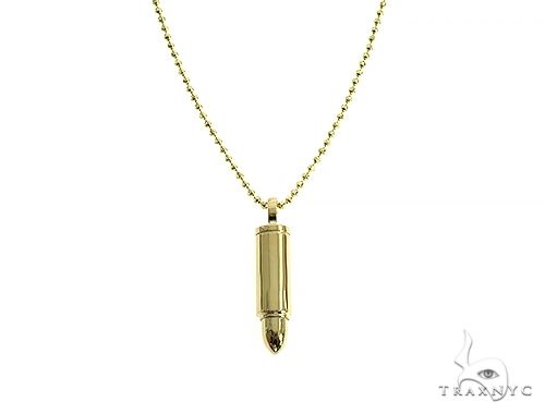 14K Gold Bullet Pendant Set 66353 Metal