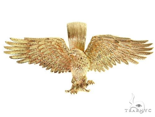 TraxNYC 14K Gold Eagle Pendant 66355 Metal