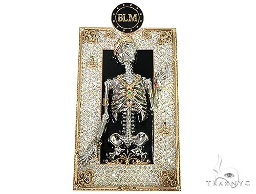Royal Skeleton BLM Diamond Pendant 66359 Metal