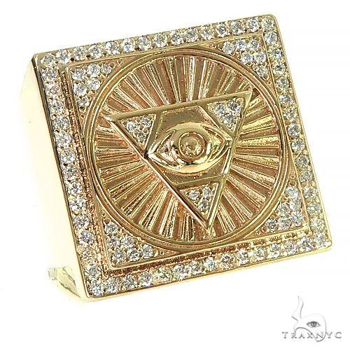 14K Gold Pyramid Evil Eye TraxNYC Ring 66368 Metal