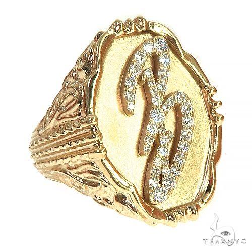 14K Gold Custom Made B Ring 66370 Metal