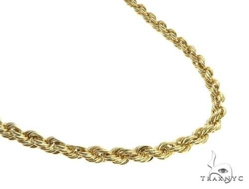 10K Yellow Gold Semi-Solid Rope Link Chain 20 Inches 4.7mm 12 Grams 66379 Gold