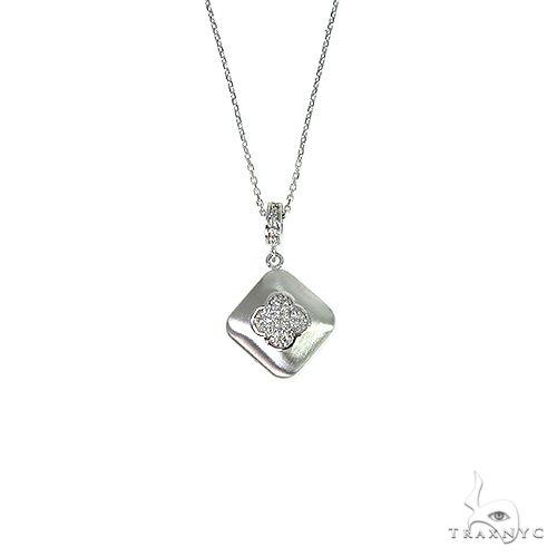 14K Gold Four Clover Leaf Diamond Necklace 66393 Diamond