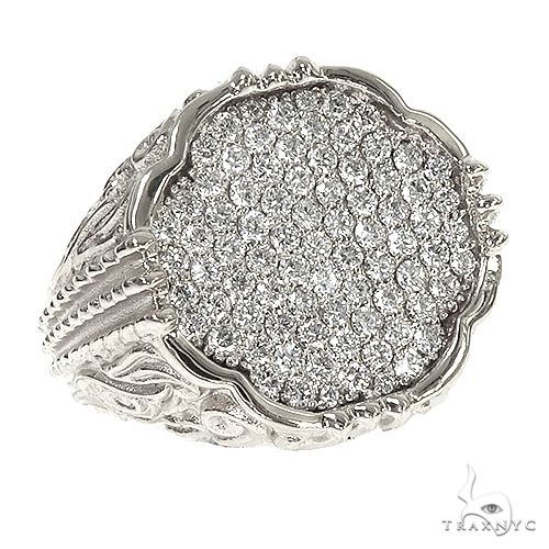 TraxNYC Silver Diamond Ring 66399 Metal