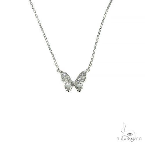 14K Gold Butterfly Diamond Necklace 66400 Diamond