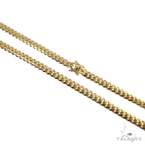10K Yellow Gold Solid Miami Cuban Link Chain 22 Inches 7mm 74 Grams 66415 Gold