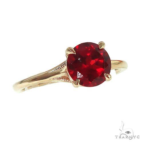 14K Gold Garnet Solitaire Engagement Ring 66422 Stone