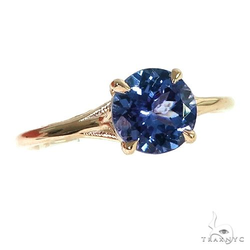 14K Gold Tanzanite Solitaire Engagement Ring 66423 Stone
