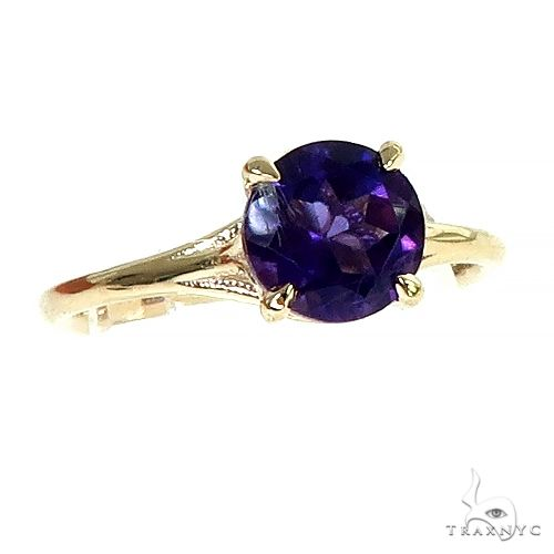 14K Gold Purple Amethyst Solitaire Engagement Ring 66424 Engagement
