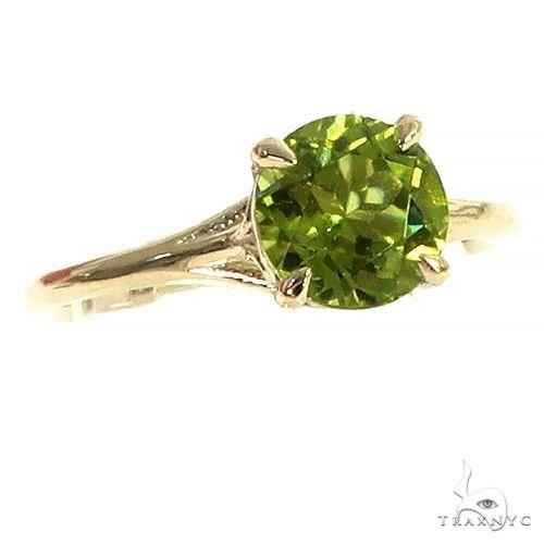 14K Gold Peridot Solitarie Engagement Ring 66426 Engagement