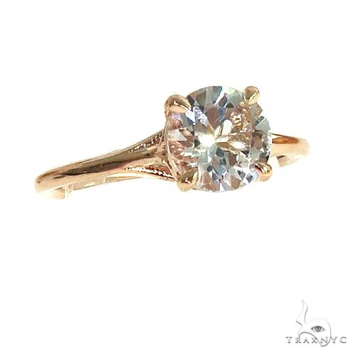 14K Gold White Topaz Solitaire Engagement Ring 66427 Engagement