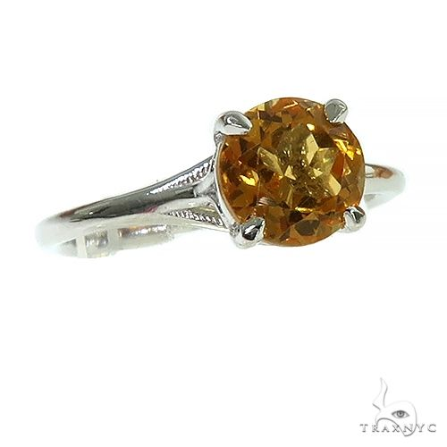 14K Gold Citrin Solitaire Engagement Ring 66428 Engagement