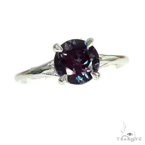14K Gold Synthetic Alexandrite Solitaire Engagement Ring 66430 Engagement