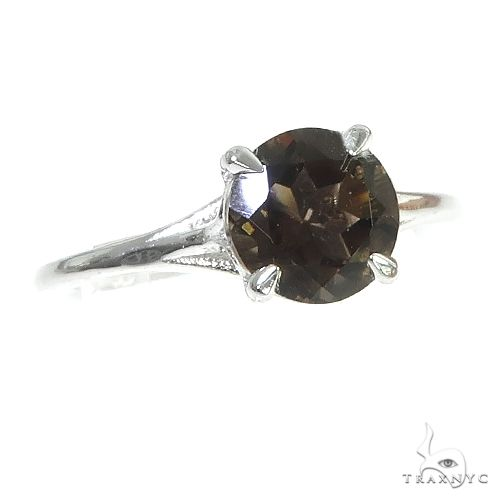 14K Gold Smokey Topaz Solitaire Engagement Ring 66435 Stone