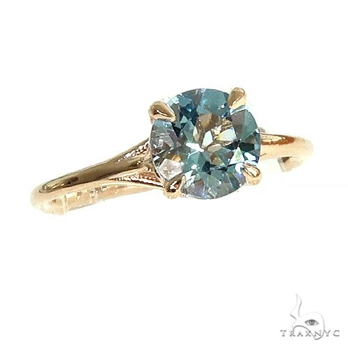 14K Aquamarine Solitaire Engagement Ring 66436 Stone