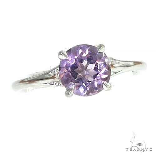 14K Amethyst Solitaire Engagement Ring 66437 Stone