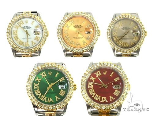 Rolex Two-Tone DateJust 36mm Diamond Bezel Watch 66438 Diamond Rolex Watch Collection