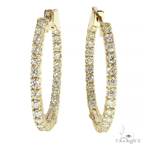 14K Gold Diamond Hoop Earring 66440 Style