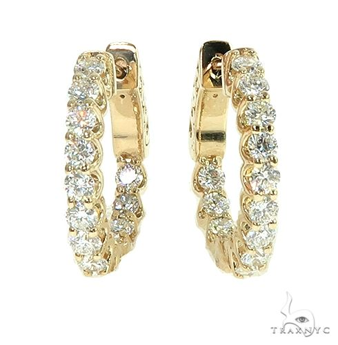 14K Gold Diamond Hoop Earring 66442 Style