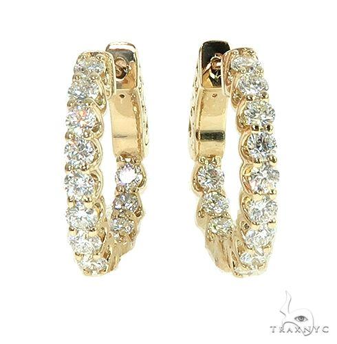 14K Gold Diamond Hoop Earring 66442 Style