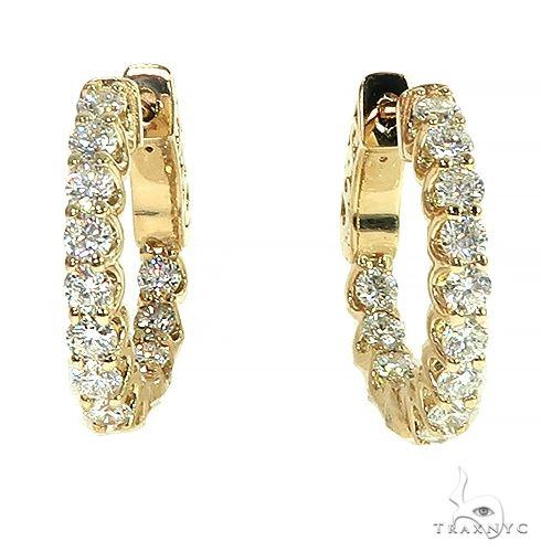 14K Gold Diamond Hoop Earring 66443 Style