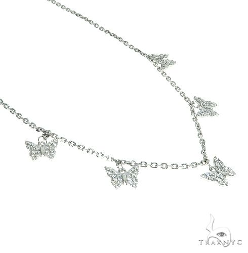 14K Gold Diamond Butterfly Necklace 66444 Diamond