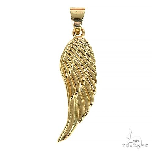 14K Gold Half Angel Wing 66447 Metal