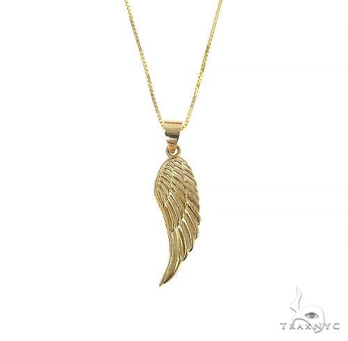 14K Gold Half Angel Wing Set 66448 Metal
