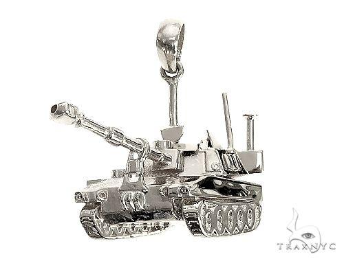 Silver Battle Tank 66458 Metal