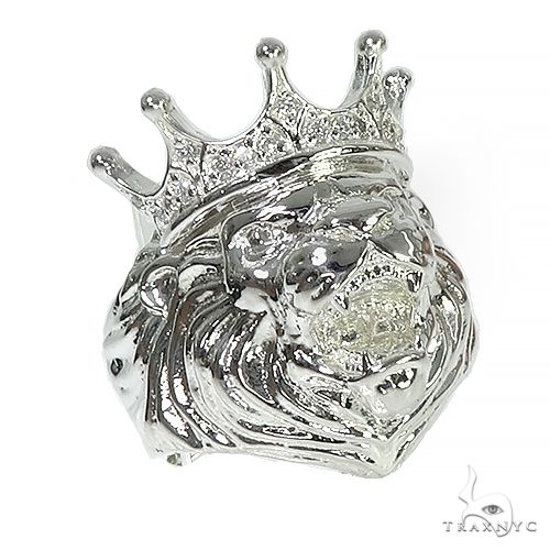 .925 Silver Lion King Diamond Ring 66462 Stone