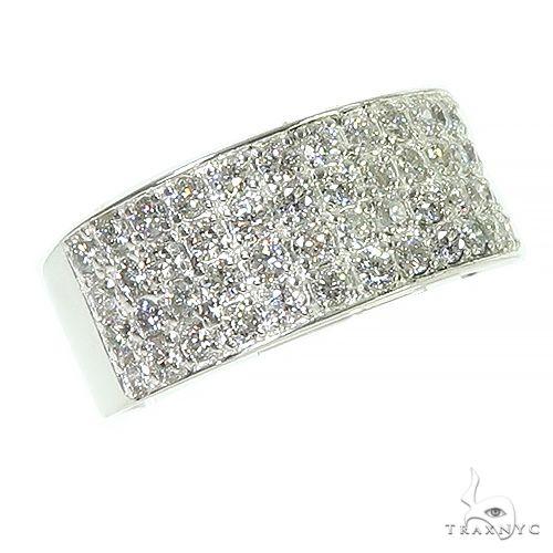 .925 Silver Diamond 4 Row Ring 66465 Anniversary/Fashion