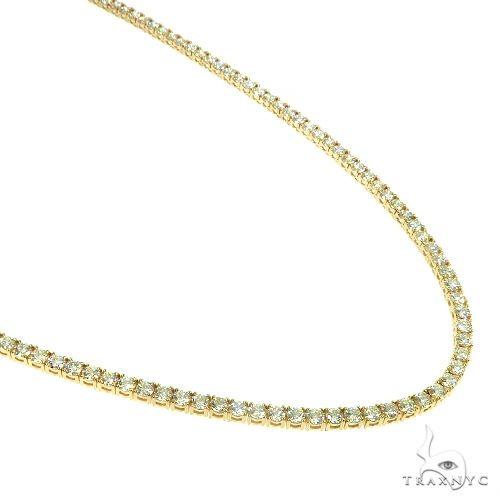 14K Gold Diamond Tennis Chain Necklace 22 Inches 3mm 15.02ct 66473 Diamond