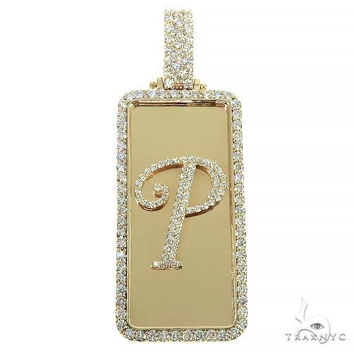 Custom Made 'P' Diamond Pendant 66497 Metal