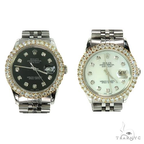 Rolex DateJust 36mm  Diamond Yellow Style Bezel Watch 66510