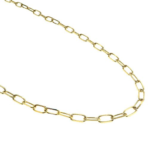 Paperclip Link Chain 20 Inches 4mm 9.10 Grams 66512 Gold