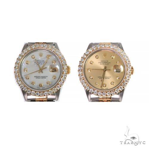 Rolex Two-Tone DateJust 36mm Diamond Bezel Watch 66521 Diamond Rolex Watch Collection