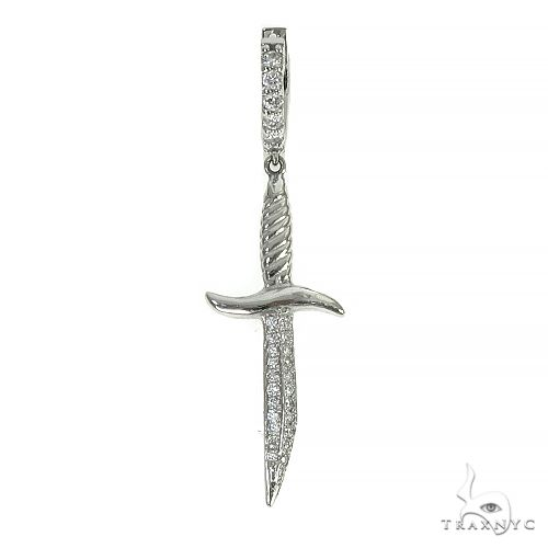 14K Gold Sword Single Earring 66522 Style
