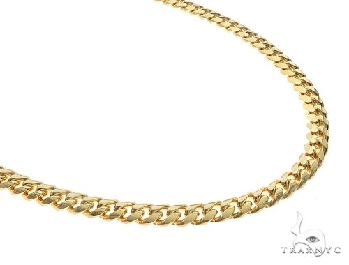 14K Yellow Gold Solid Miami Cuban Link Chain 22 Inches 5mm 41.20 Grams 66526 Gold