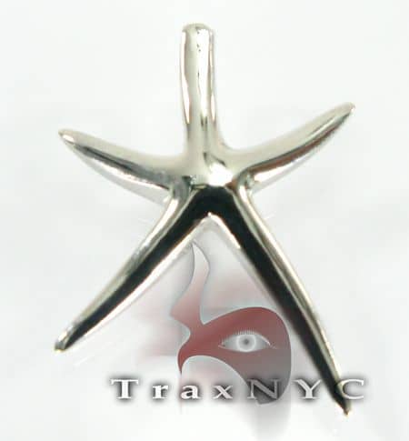Starfish Sterling Silver Pendant 2 Metal