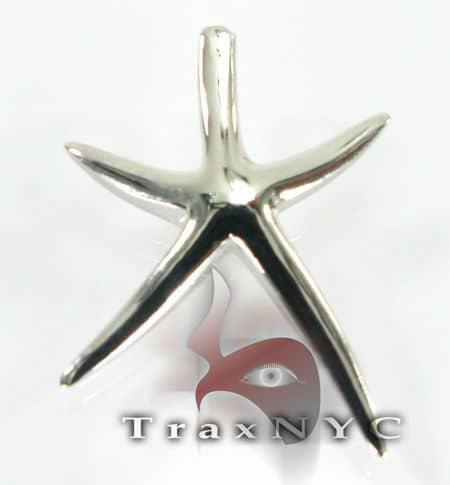 Starfish Sterling Silver Pendant 2 Metal