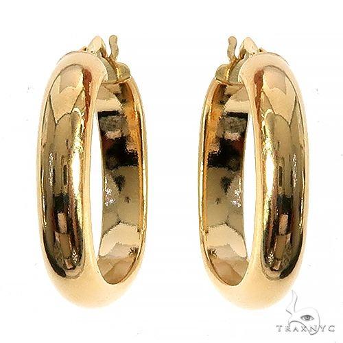 14K Gold Hoop Earrings 66554 Metal