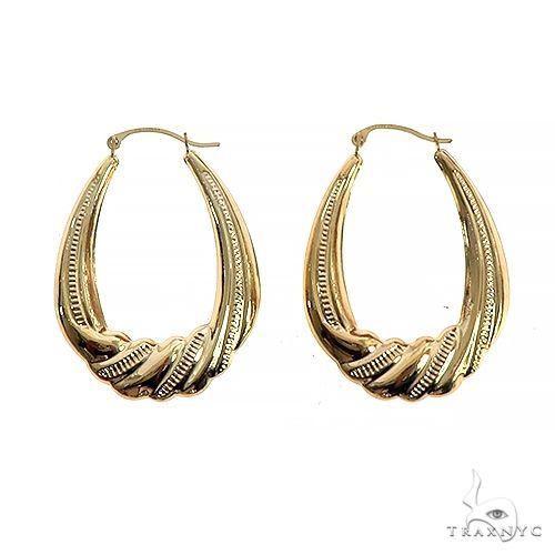 14K Gold Earrings 66557 Metal